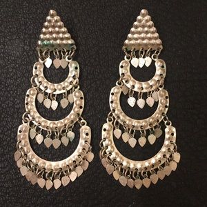 Vintage Antique Boho Gypsy Ethnic Silver Earrings